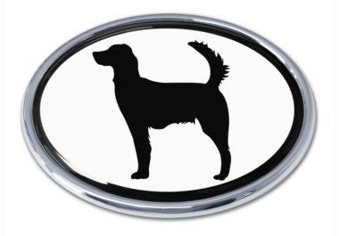 Setter White Chrome Emblem image