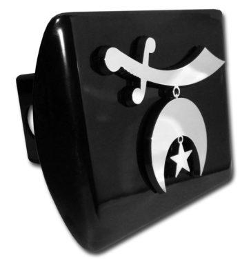 Shriner Emblem on Black Hitch Cover