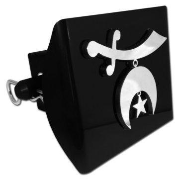 Shriner Emblem on Black Plastic Hitch Cover