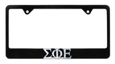 Sigma Phi Epsilon Black License Plate Frame image