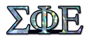 Sigma Phi Epsilon Reflective Decal  image