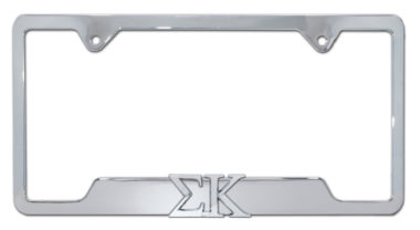Sigma Kappa Sorority Chrome Open License Plate Frame