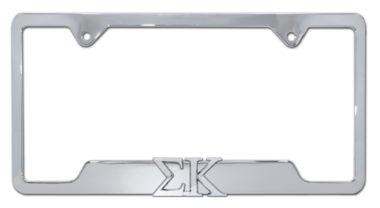 Sigma Kappa Sorority Chrome Open License Plate Frame
