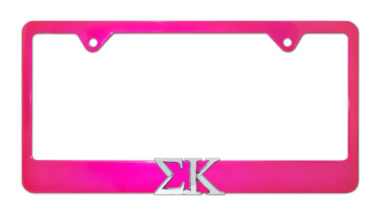Sigma Kappa Pink License Plate Frame
