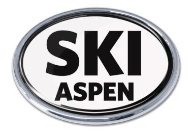 Ski Aspen White Chrome Emblem