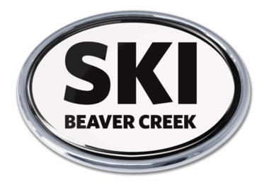 Ski Beaver Creek White Chrome Emblem
