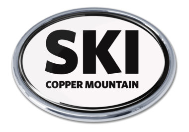 Ski Cooper Mountain White Chrome Emblem