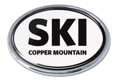 Ski Cooper Mountain White Chrome Emblem