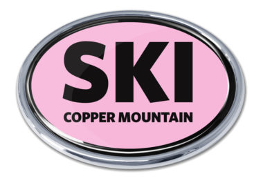 Ski Cooper Mountain Pink Chrome Emblem