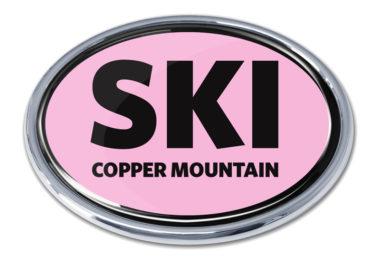 Ski Cooper Mountain Pink Chrome Emblem