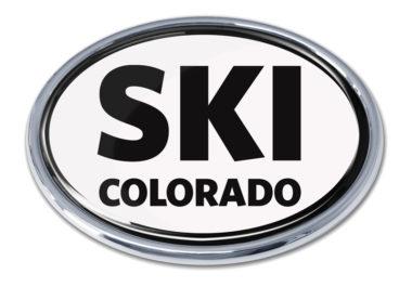 Ski Colorado Chrome Emblem