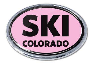 Ski Colorado Pink Chrome Emblem