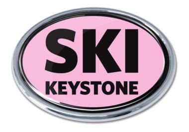 Ski Keystone Pink Chrome Emblem