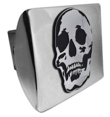 Skull Chrome Hitch Cover