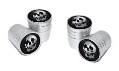 Skull Valve Stem Caps - Matte Chrome