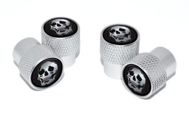 Skull Valve Stem Caps - Matte Knurling