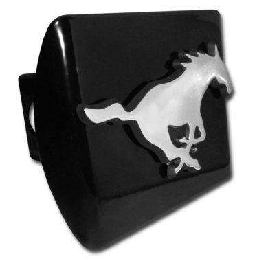 SMU Emblem on Black Hitch Cover