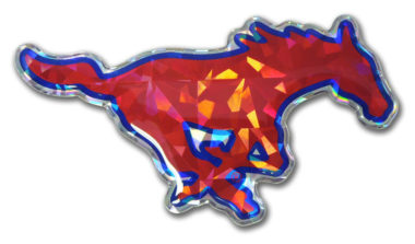 SMU Red 3D Reflective Decal image