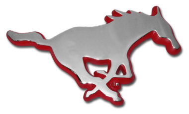 SMU Red Chrome Emblem
