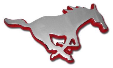 SMU Red Chrome Emblem