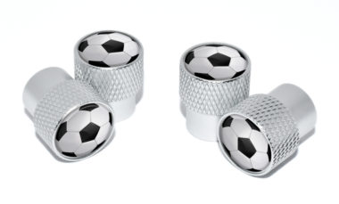 Soccer Ball Valve Stem Caps - Matte Knurling image