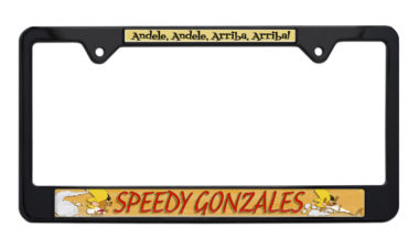 Speedy Gonzales Black License Plate Frame image