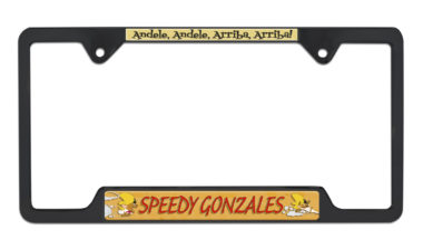 Speedy Gonzalez Open Black License Plate Frame