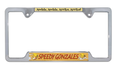Speedy Gonzalez Open Chrome License Plate Frame