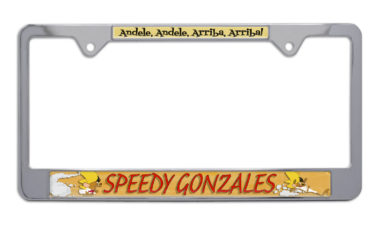 Speedy Gonzalez Chrome License Plate Frame