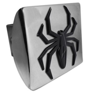 Black Lightning Spider Chrome Hitch Cover