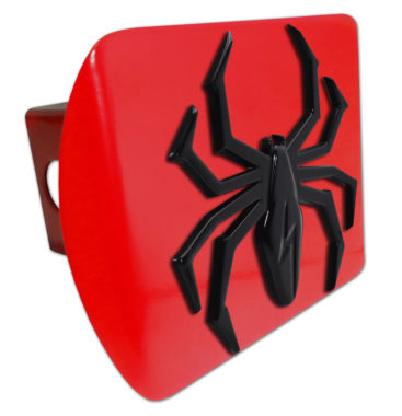 Black Lightning Spider Red Hitch Cover