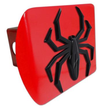 Black Lightning Spider Red Hitch Cover