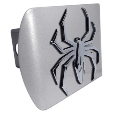 Lightning Spider Brushed Chrome Hitch Cover