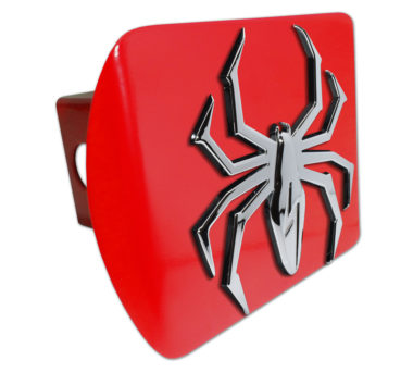 Lightning Spider Red Hitch Cover