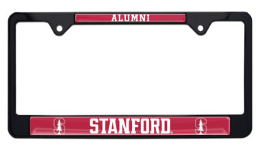 Stanford University Alumni Black License Plate Frame