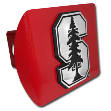 Stanford University Emblem on Red Hitch Cover