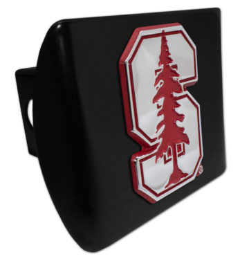 Stanford University Red Emblem on Black Hitch Cover