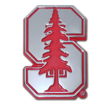 Stanford University Red Chrome Emblem