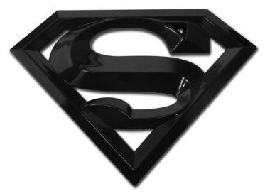 Superman Black Acrylic Emblem