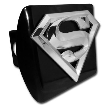 Superman Emblem on Black Hitch Cover