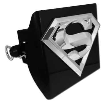 Superman Emblem on Black Plastic Hitch Cover
