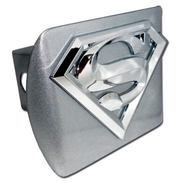 Superman Emblem on Brushed Hitch Cover