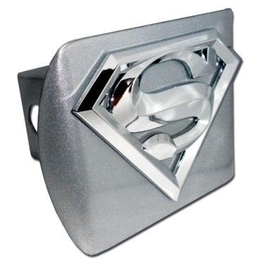 Superman Emblem on Brushed Hitch Cover