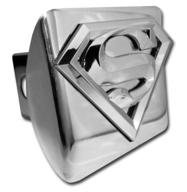Superman Emblem on Chrome Hitch Cover