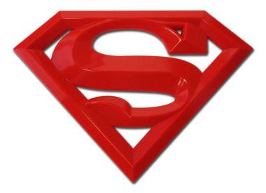 Superman Red Metal Emblem