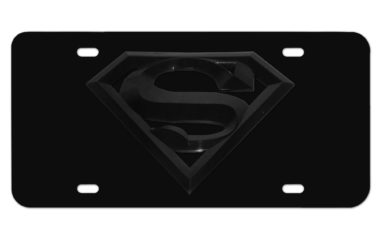 Superman All Black License Plate
