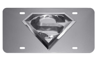 Superman Silver License Plate