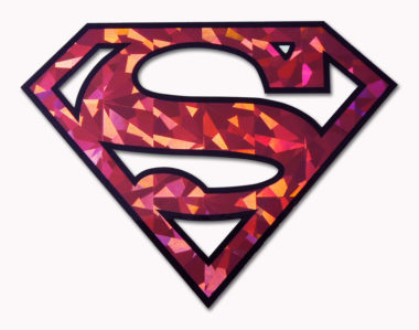 Superman Red Reflective Decal