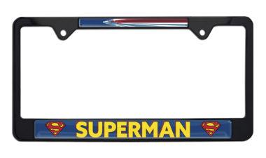 Superman Fly Black License Plate Frame