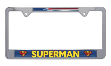 Superman Fly Chrome License Plate Frame